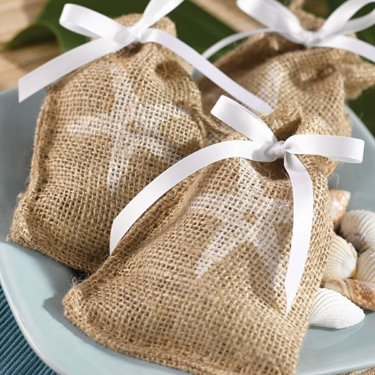 ideas for beach wedding party favors%0A Burlap Favor Bags    exclusivelyweddings    Beach Wedding FavorsRustic