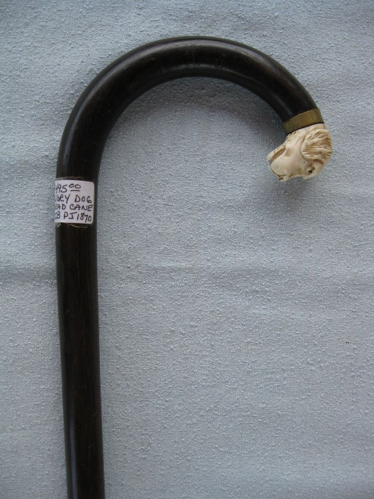 Ivory Dog Head Cane