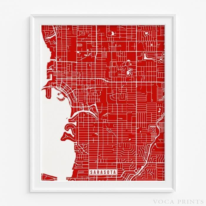 SARASOTA FLORIDA STREET MAP PRINT 699 best