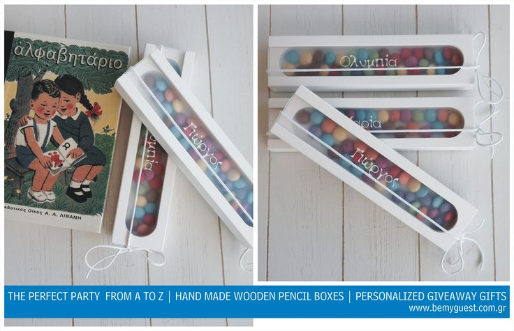 SCHOOL THEN PARTY | WOODEN PENCIL CASES WITH PLEXIGLASS | GIVEAWAY GIFTS | TAILOR MADE EVENTS