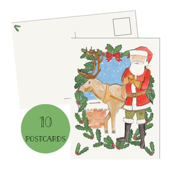 Get 15% off on Etsy using the Coupon code PIN 99  Christmas Cards  Set of 10 Christmas cards by amylindroos on Etsy