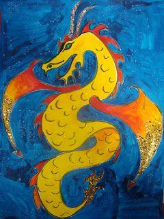 Chinese New Year dragon and lantern