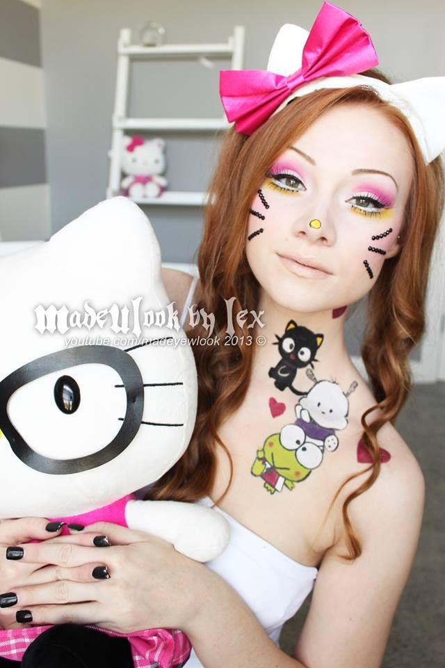 Hello Kitty makeup tutorial! www.youtube.com/madeyewlook, facebook.com/madeulookbylex