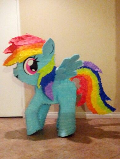 My little pony pinata: Rainbow Dash I WANT THIS SOO BAD FOR RILEY'S PARTY!