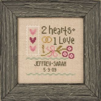 lizzie kate a little wedding counted cross stitch pattern fabric charm