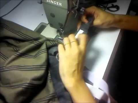 [5] Cara jahit pinggang kain