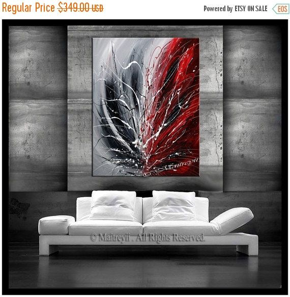 Art Painting Shade of Love 40 LARGE Abstract by largeartwork