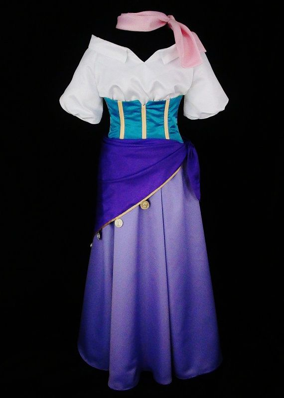 Adult Esmeralda Gypsy Costume Custom Made by NeverbugCreations