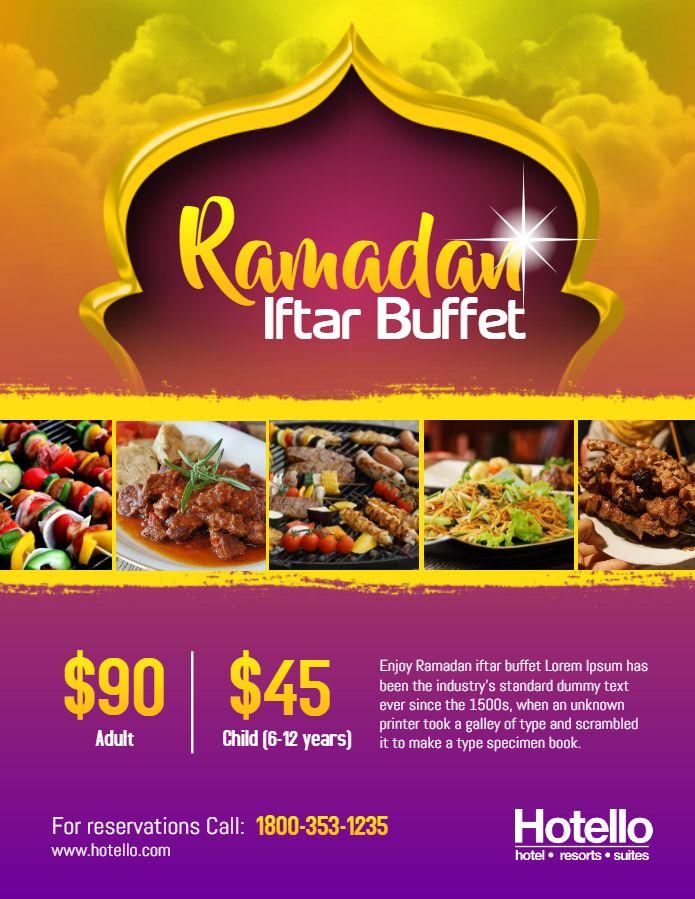 Ramadan Iftar Buffet Restaurant Ad Flyer Template Iftar