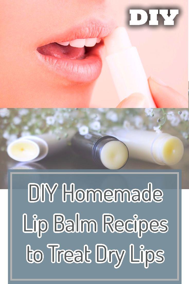 DIY Homemade Lip Balm Recipes to Treat Dry Lips   Homemade lip ...