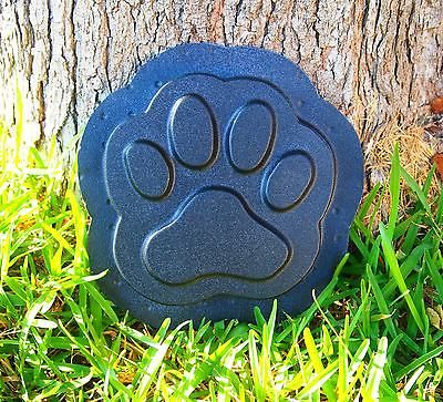 Dog-Puppy-Paw-Print-Stepping-Stone-Plastic-Mold-Concrete-Cement-Plaster-Mould