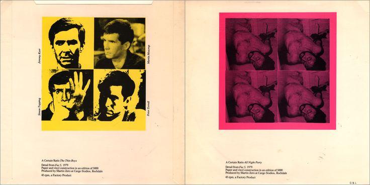 Sleeve designed by Peter Saville: Sleeves 1978-1981
