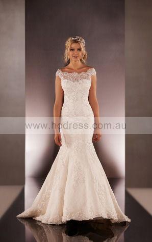 Mermaid Bateau Empire Cap Sleeves Floor-length Wedding Dresses wes0163--Hodress