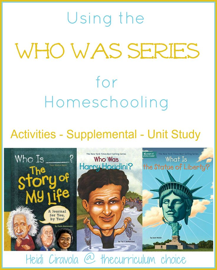 Using the Who Was Series for Homeschooling is a great way to add depth to your studies, learn about someone of interest or create a whole unit study.