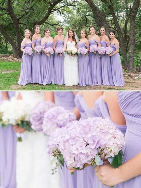 Cheap Lavender Off the Shoulder Long Bridesmaid Dresses , BW0387