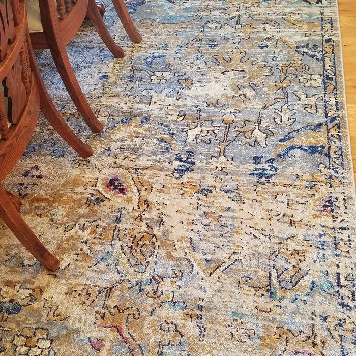 Koury Oriental Light Blue Tan Area Rug With Images Rugs Area