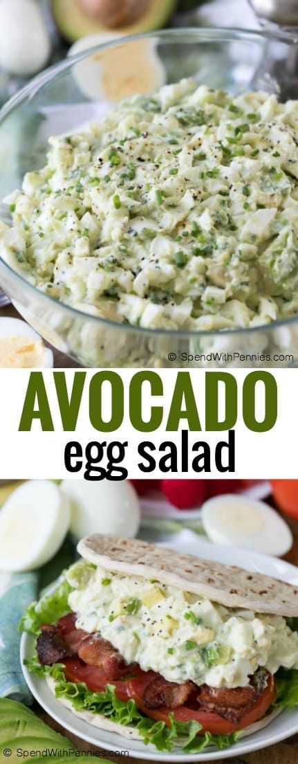 BLT Avocado Egg Salad is a delicious twist on a family favorite! Bacon, lettuce, tomato, avocado and of course egg all smothered in a creamy dressing create a salad that is truly unique!