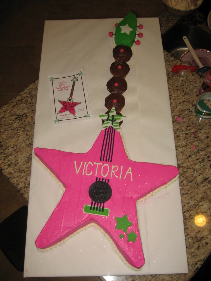 Rockstar cake, ok maybe not in pink for zach