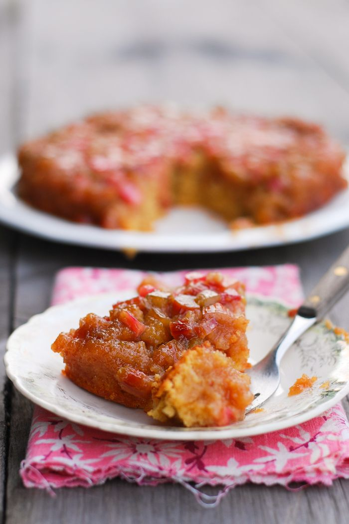 Rhubarb Upside Down Cake | Buttered Side Up