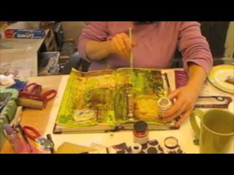 Art Journals  - paint and collage ideas