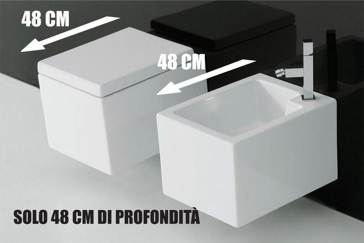 PLUS - Di soli 48 cm di profondità, Wc e bidet Plus rappresentano la soluzione ideale per arredare con stile e design, ambienti molto piccoli. #WATERSAVING http://www.maisonplus.com/plus-wc-con-coprivaso-e-bidet-sospesi-7906.html