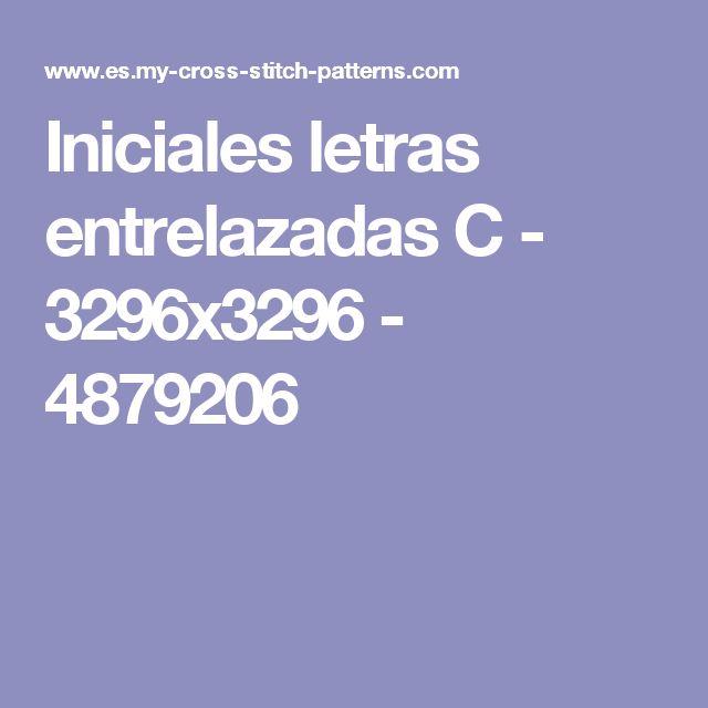 Iniciales letras entrelazadas C - 3296x3296 - 4879206