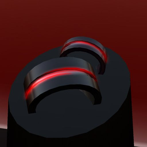QT His & Her's pulsing red & black wedding bands (storage.koinup) For more great ideas and information about our waterfront venue visit our website www.tidewaterwedding.com or give us a call 443 786 7220