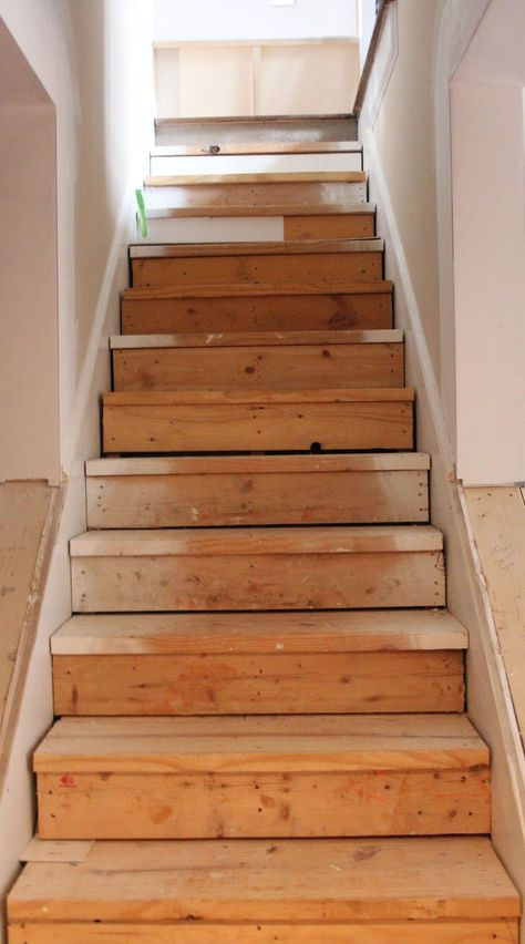 this is the best idea for updating stairs on a budget totally doing rh pinterest com