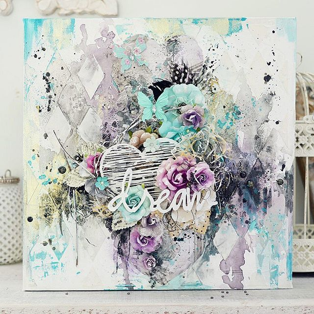 The 5974 best images about altered mixed media items on for Mixed media canvas art ideas