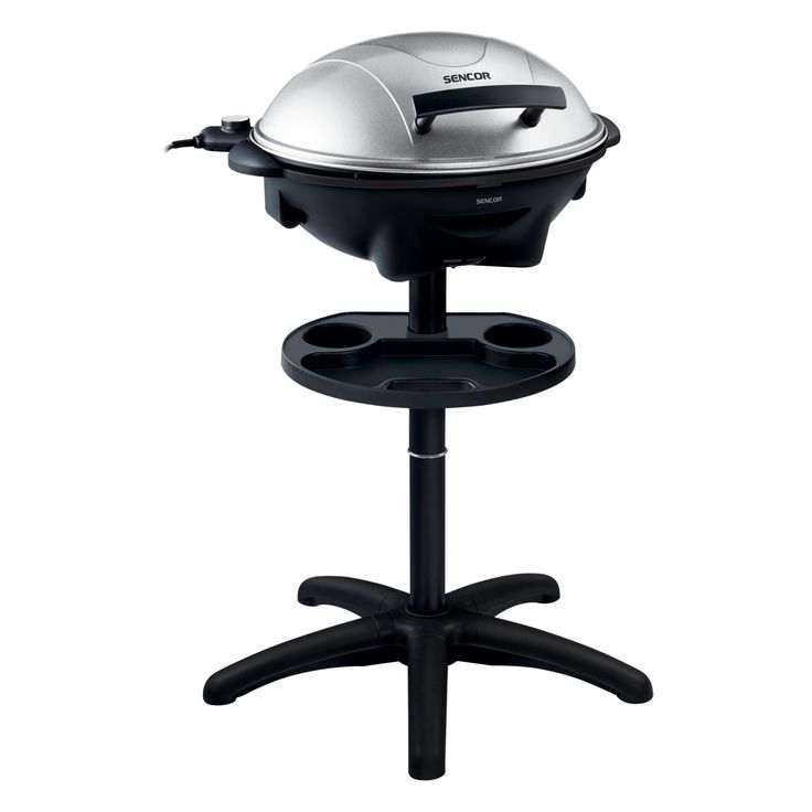 Electric Grill SBG 7003SL - Removable grill plate with a non-stick coating - Integrated accessory tray for grilling - Stable construction