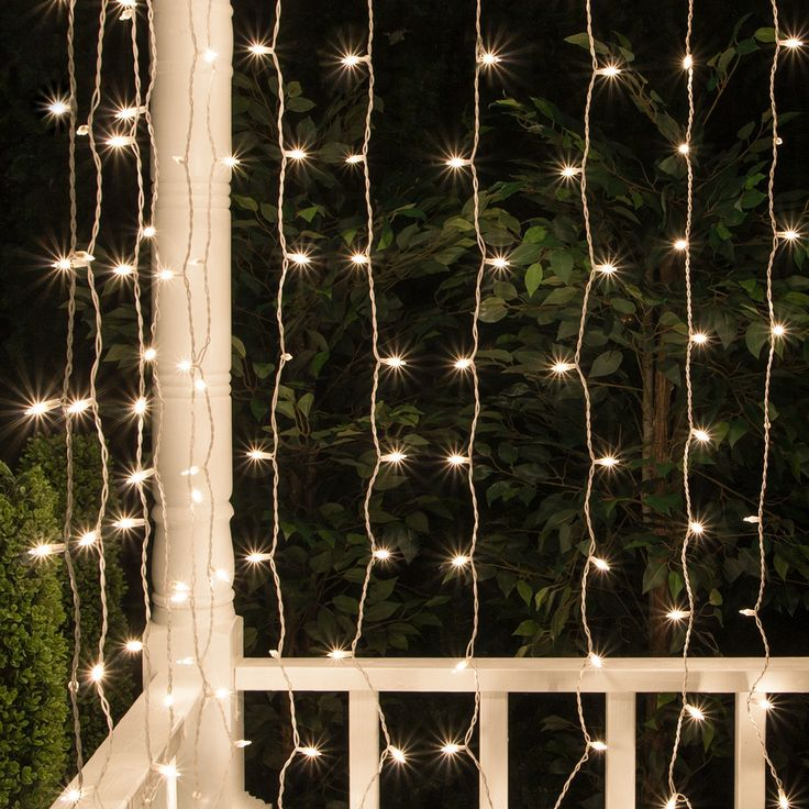 For $13.99.  Clear Mini outdoor icicle lights. Curtain lights are ideal for weddings and events. 150 bulb icicle light strings.