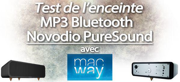 Test de la nouvelle enceinte MP3 Bluetooth Novodio PureSound avec #AlexBlog et #Macway - #enceinte #bluetooth #mp3 #Novodio #PureSound #musique #audio #accessoires #high #tech #technologie