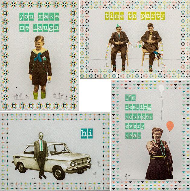 TIP! - Een illustrator, namelijk Who's Loes?!, die kaarten maakt met oude familiefoto's van zolder! http://nouk-san.nl/whos-loes/