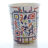 Vote for our new coffee cup design. This design is called flySAS.com - QR-dcode by Johan Börjesson. Vote for it at www.flysas.com/design