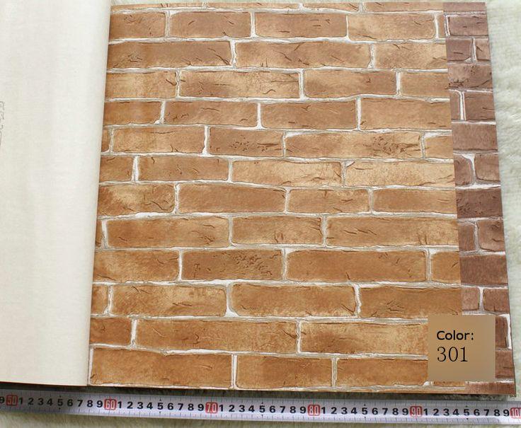 Pesado de espessura Da Parede do Vinil Papel de parede Rústico Padrão Faux Texturizado Tijolo Efeito de parede Papel De Parede para Quarto & sala Marrom Vermelho bege em Papéis de parede de Melhoramento Da casa no AliExpress.com   Alibaba Group