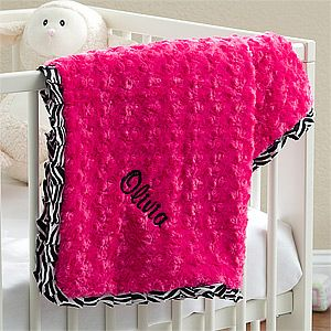 135 best oh baby baby gifts more images on pinterest baby its the little zebra embroidered baby blanket for girls from pmall you can personalize it with their name great baby shower gift negle Image collections