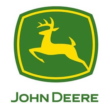 The John Deere logo is a play on the last name. Very recognizable and fairly unique. The color scheme is well associated with the brand.