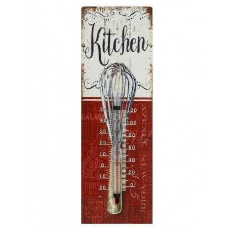 Termometr, ciekawy i przydatny dodatek do pomieszczeń, ten akurat pasuje jak najbardziej do kuchni.  Więcej na:www.lawendowykredens.pl