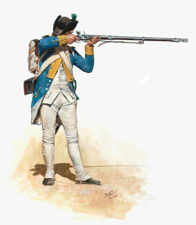 French chasseur 104th Royal deux-ponts rgt, siege of Yorktown 1781
