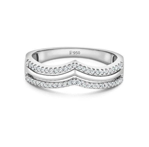 Crown for the Princess Platinum ring with Diamonds SJ PTO 153