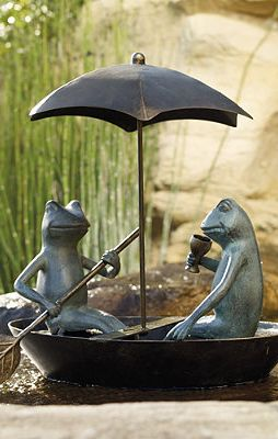 Drifting Frogs Garden Statue From Frontgate