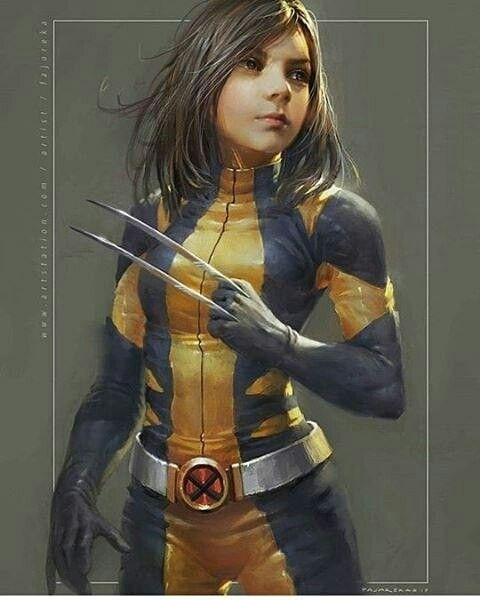 Laura from Logan in the X-23 Wolverine suit