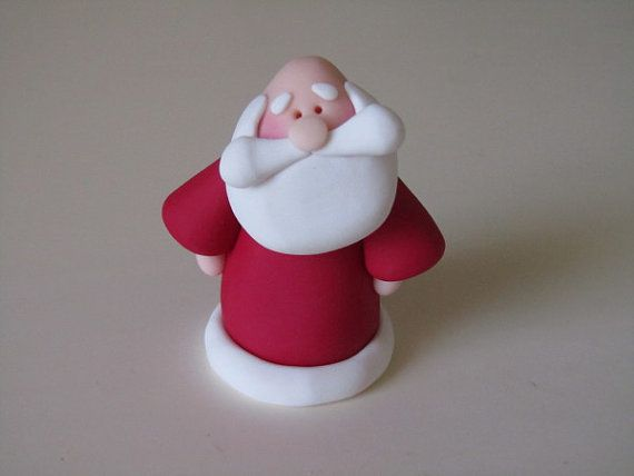 Polymer Clay Christmas Santa: broken link but too cute to miss
