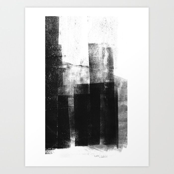 Buy Black White Grey Abstract Monotype Art Print By Mininst Worldwide Shipping Available At Society6 Com Just One Of Mi Abstract Black And White Wall Art Art