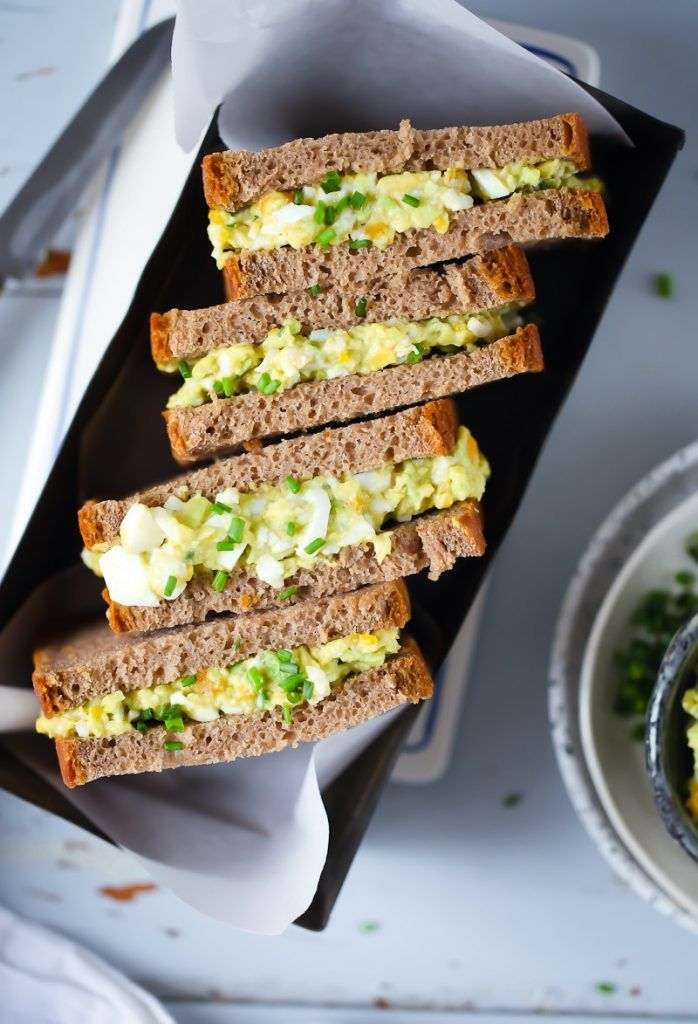 Rezept für Avocado-Eiersalat Sandwich