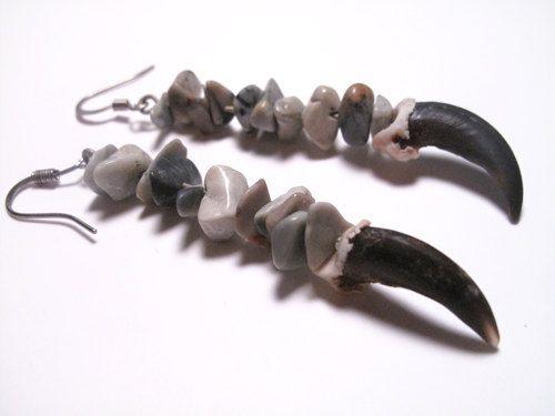 Claw Earrings for Women Coyote Earrings Taxidermy Jewelry. $19.99, via Etsy.
