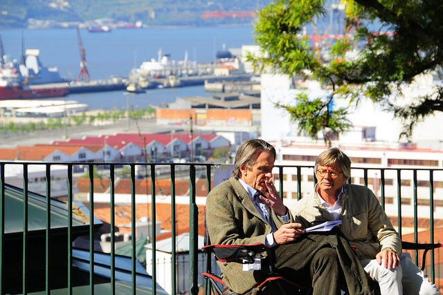 Actor Jeremy Irons and Director Bille August during the shooting of the film Night Train to Lisbon in Santa Catarina. Lisbon, Portugal.  Photo: © Rui Rebelo via www.flickr.com/ruireb 09/April/2012