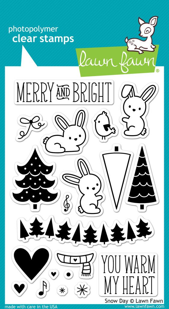 Snow Day by Lawn Fawn with custom die cut set