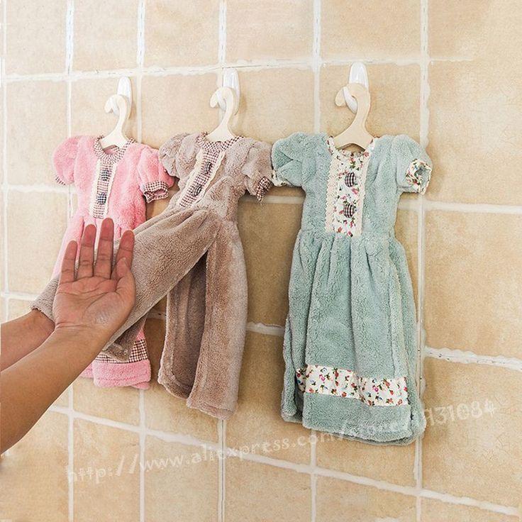22 * 28 см симпатичные творческие небольшие ватки полотенца висят рук протрите платье ресторан кухонные полотенца принцесса юбка дети подарок(China (Mainland))