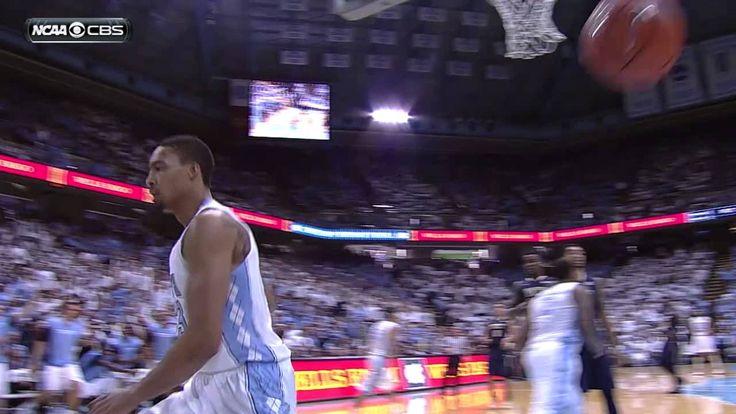 UNC Men's Basketball: J.P. Tokoto Tomahawk Dunk vs. Pitt